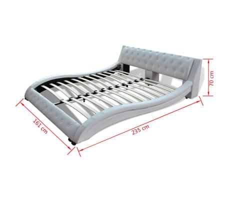 kunstlederbett memory schaum matratze obermatratze 140 cm wei g nstig kaufen. Black Bedroom Furniture Sets. Home Design Ideas