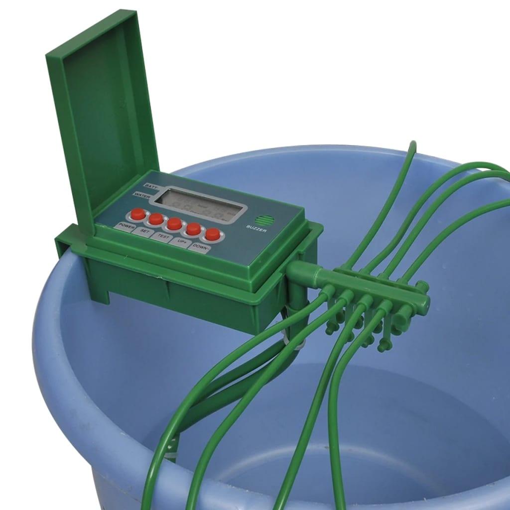 Automatický systém zalévání s postřikovačem a časovačem