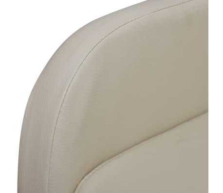 vidaXL Masažinė kėdė, kreminės spalvos, dirbtinė oda[5/9]