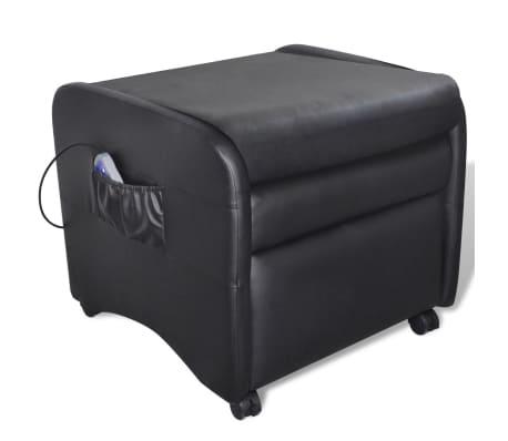 vidaXL Poltrona Massaggio Elettrica Regolabile in Similpelle Nera[3/8]
