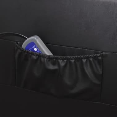 vidaXL Poltrona Massaggio Elettrica Regolabile in Similpelle Nera[4/8]