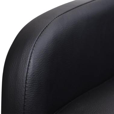 vidaXL Poltrona Massaggio Elettrica Regolabile in Similpelle Nera[7/8]