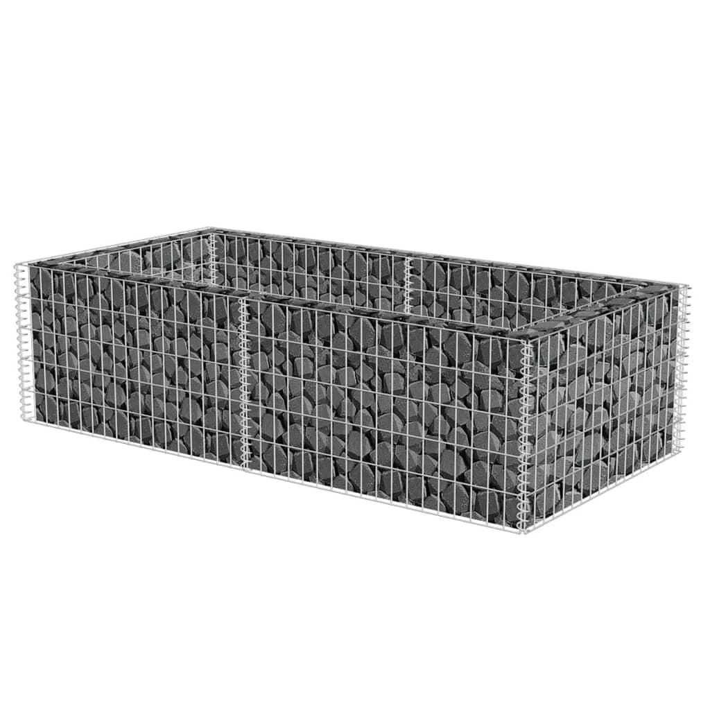 Gabionový truhlík pozinkovaná ocel 180 x 90 x 50 cm