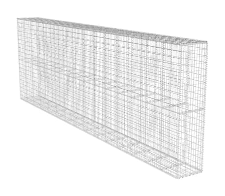 vidaXL Gabion Wall with Cover Galvanised Steel 600x50x200 cm