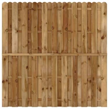vidaXL Panel de valla de jardín vertical madera FSC[1/3]