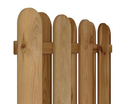 vidaXL Panel de valla de jardín vertical madera FSC[3/3]