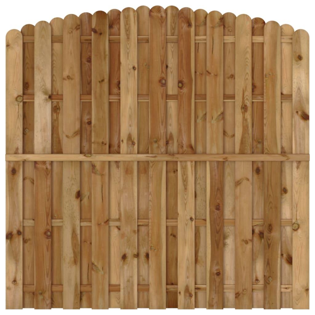 vidaXL Panou de gard cu șipci alternative, 180x(165-180) cm, lemn pin poza vidaxl.ro