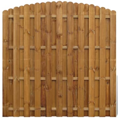 Vertical Wooden Hit & Miss Fence Panel with Arched Design[1/3]