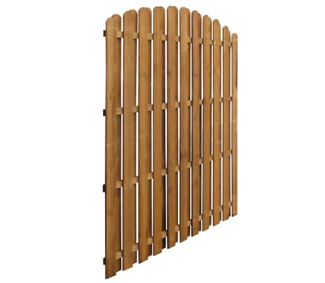 Vertical Wooden Hit & Miss Fence Panel with Arched Design[2/3]