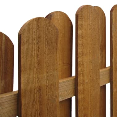 Vertical Wooden Hit & Miss Fence Panel with Arched Design[3/3]