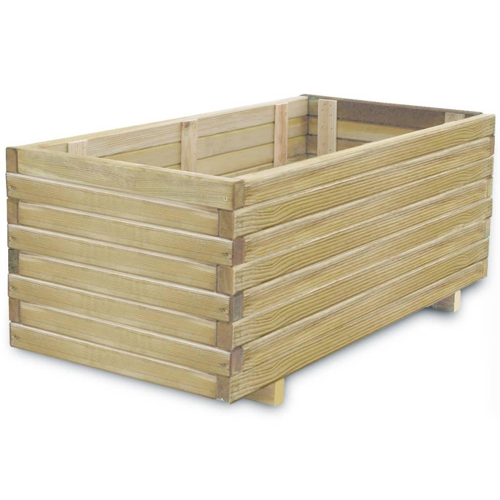 Obdélníkový dřevěný truhlík 100 x 50 x 40 cm