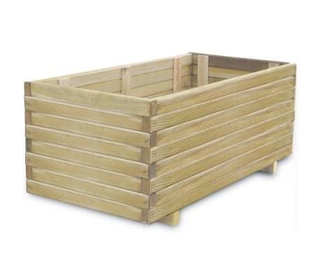 vidaXL Raised Bed 100x50x40 cm Wood Rectangular-picture