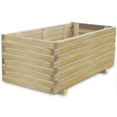 vidaXL Planter 100x50x40 cm FSC Wood Rectangular[1/4]