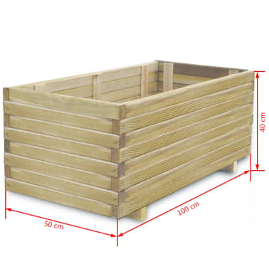 vidaXL Planter 100x50x40 cm FSC Wood Rectangular[4/4]