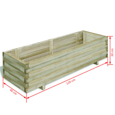 vidaXL Planter 120x40x30 cm FSC Wood Rectangular[4/4]