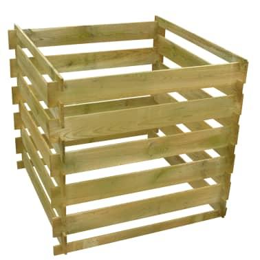 acheter bac compost carr en lattes en bois 0 54 m pas cher. Black Bedroom Furniture Sets. Home Design Ideas