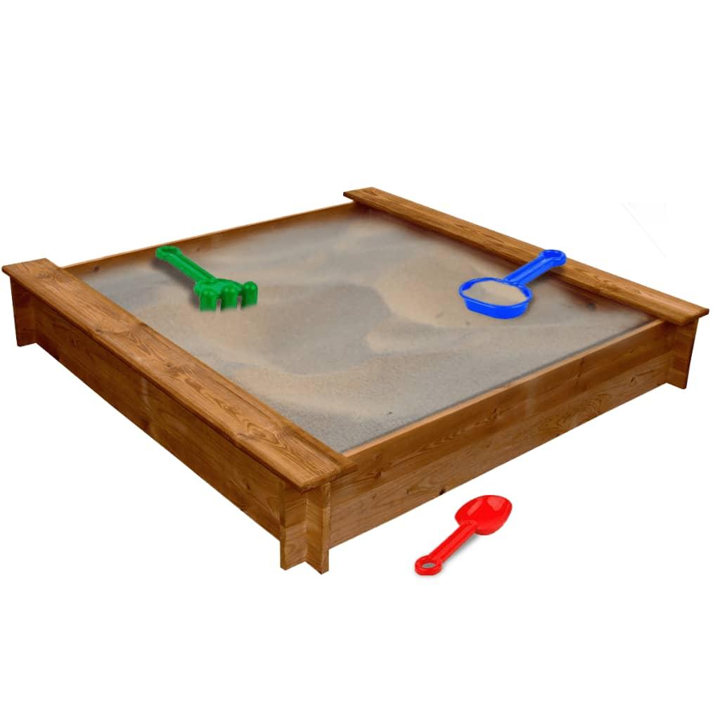 Dřevěné pískoviště ve tvaru čtverce