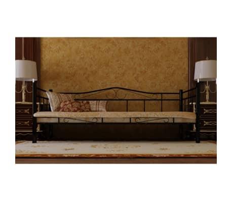 acheter banquette lit en m tal noir 90 cm avec matelas et. Black Bedroom Furniture Sets. Home Design Ideas