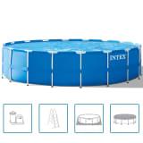 Intex Kulatý nadzemní bazén s ocelovým rámem, set 549 x 122 cm 28252GN