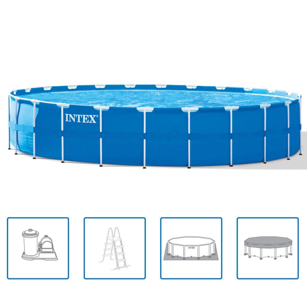 Intex Set piscină rotundă, cadru de oțel, 732 x 132 cm, 28262GN vidaxl.ro