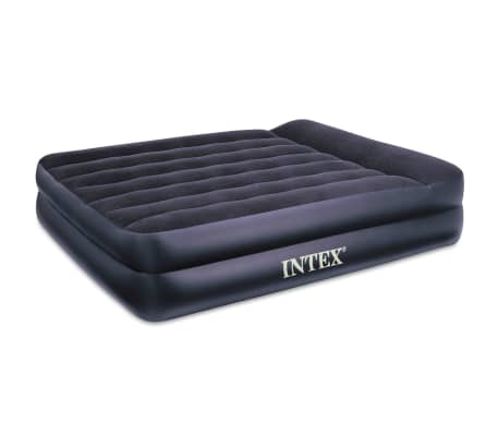 acheter matelas gonflable floqu sur lev intex 66720 pas. Black Bedroom Furniture Sets. Home Design Ideas
