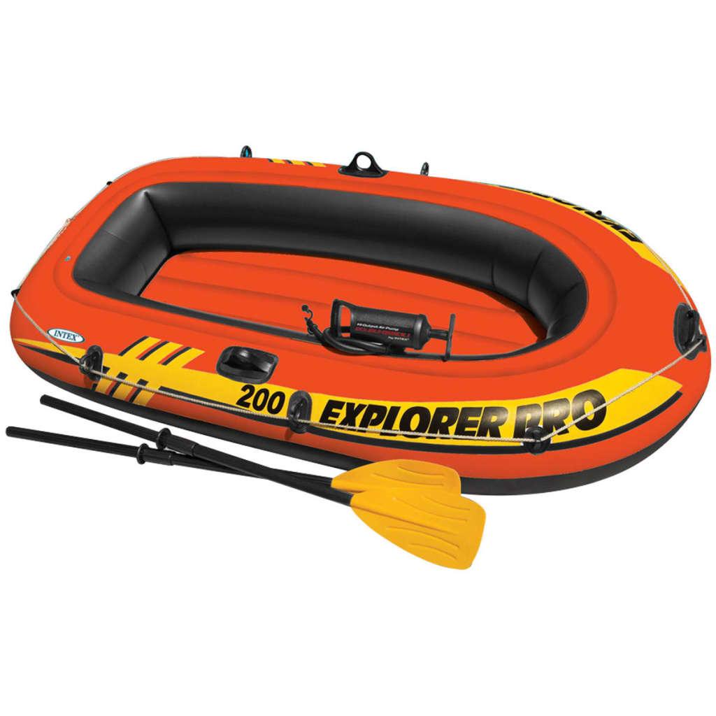 Intex Set barcă gonflabilă Explorer Pro 200 cu vâsle și pompă, 58357NP vidaxl.ro