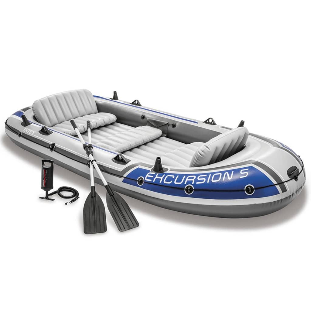 Intex Excursion 5 Sada nafukovacího člunu s vesly a pumpičkou 68325NP