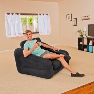 acheter fauteuil lit gonflable 1 personne intex 68565np 107 x 221 x 66 cm pas cher. Black Bedroom Furniture Sets. Home Design Ideas