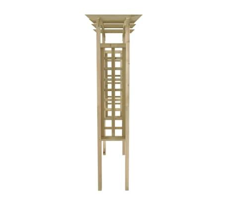 vidaXL Hagebue 150x50x220 cm FSC treverk[3/4]
