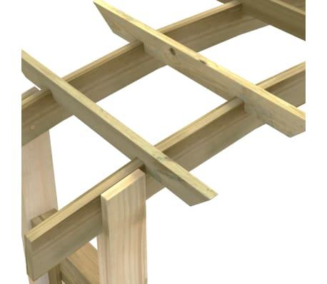 vidaXL Rozenboog latwerk 150x50x220 cm hout[4/4]