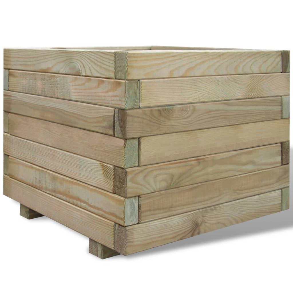 vidaXL Planter 50x50x40 cm FSC Wood Square
