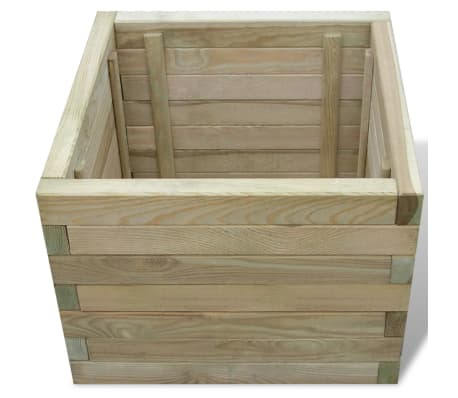 vidaXL Planter 50x50x40 cm FSC Wood Square[3/4]