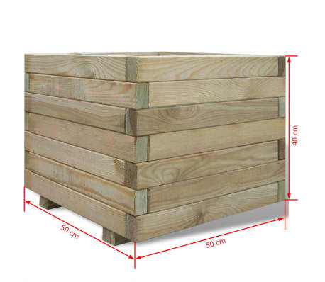 vidaXL Planter 50x50x40 cm FSC Wood Square[4/4]