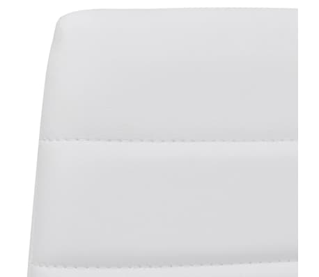 Jedilni set 4 beli stoli z ravnimi linijami in stekleno mizo[8/13]