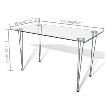 6 sillas marrones comedor Slim Line mesa de vidrio transparente[12/13]