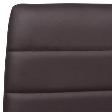 6 sillas marrones comedor Slim Line mesa de vidrio transparente[7/13]