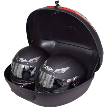 vidaXL Motorbike Top Case 72 L for 2 Helmet[2/6]