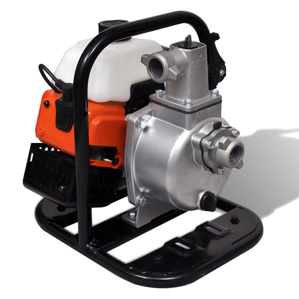 vidaXL Waterpomp benzine 2- traps 1,45 kW 0,95 L