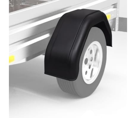 "vidaXL 2x Mudguard for Trailer Wheels 7.9""x26.8""[2/6]"