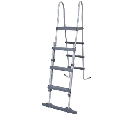 jilong steel frame pool safety ladder non slip steps 4 ft vidaxl com
