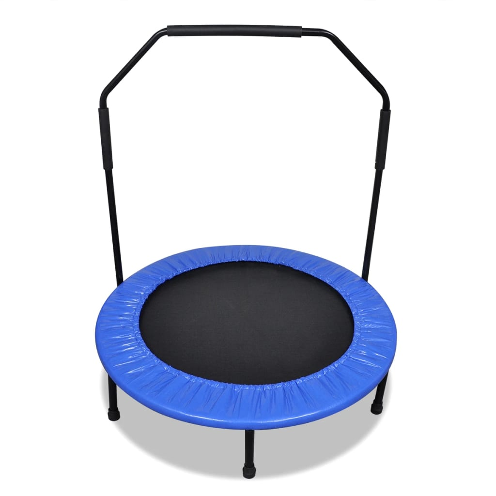 Mini trambulină pliabilă cu bară de protecție, 101 cm poza 2021 vidaXL