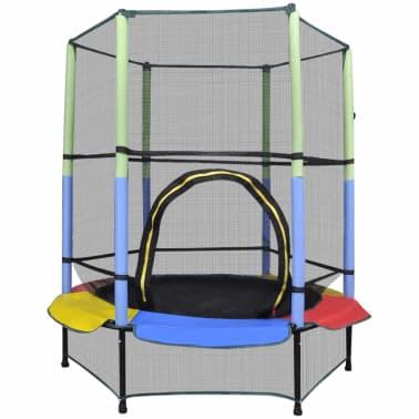 Moderne Shop Trampoline med sikkerhetsnett 140 cm | vidaXL.no OK-51