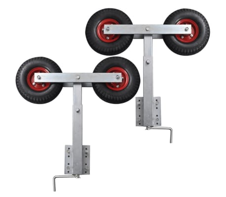 Boat Trailer Double Wheel Bow Support Set of 2 59 - 84 cm