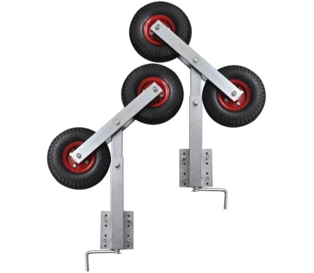 Boat Trailer Double Wheel Bow Support Set of 2 2' - 3'[5/6]