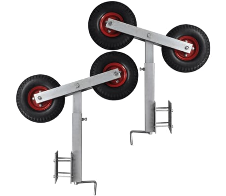 Boat Trailer Double Wheel Bow Support Set of 2 2' - 3'[6/6]