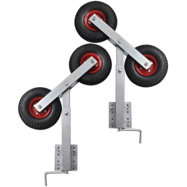 Boat Trailer Double Wheel Bow Support Set of 2 2