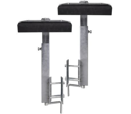 Boat Trailer Solid Bar Bow Support Set of 2 63 - 88 cm[4/5]