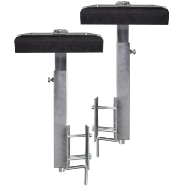 Boat Trailer Solid Bar Bow Support Set of 2 2