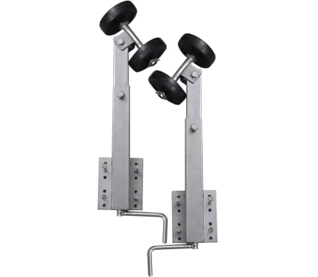 vidaXL Boat Trailer Double Roller Bow Support Set of 2 2' - 3'[4/5]