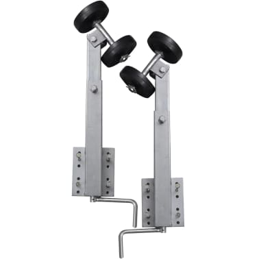 vidaXL Boat Trailer Double Roller Bow Support Set of 2 2